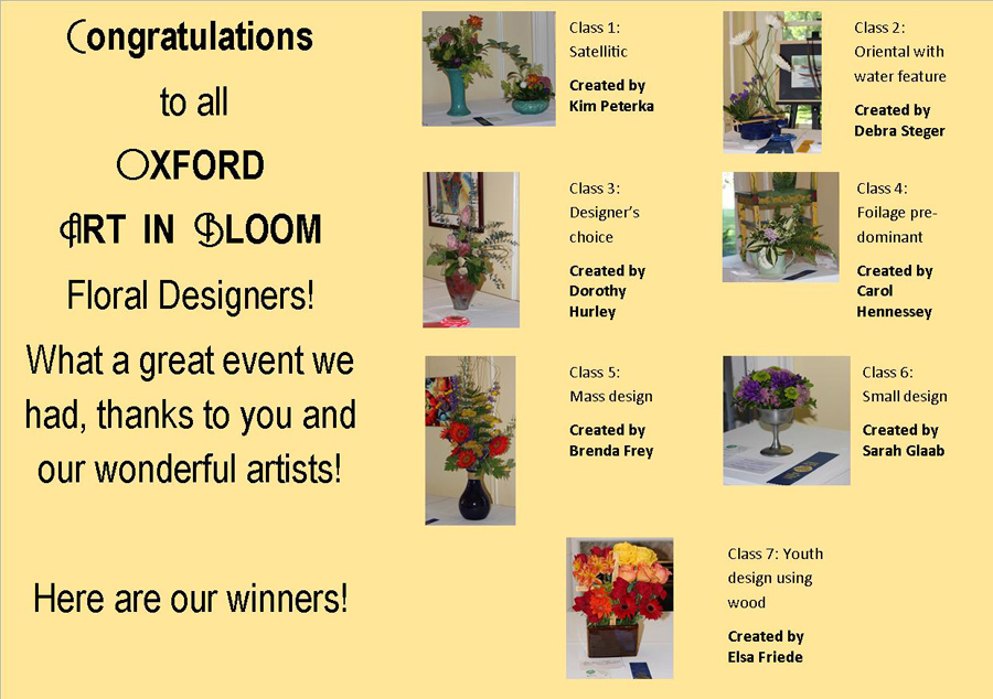 Oxford Art In Bloom a huge success!