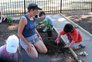 Gardeneering Camp at the Children's Garden.